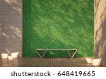 privacy terrace with green wall ... | Shutterstock . vector #648419665
