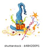 artistic watercolor hand drawn... | Shutterstock . vector #648420091