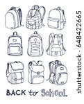 hand drawn vector set of sketch ... | Shutterstock .eps vector #648422665
