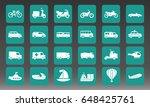 transport vehicles vector icon... | Shutterstock .eps vector #648425761