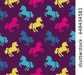 Seamless Pattern With Unicorn...