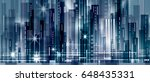 night city background | Shutterstock . vector #648435331