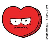 cartoon angry heart | Shutterstock .eps vector #648436495