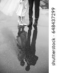 feet of the bride and groom on... | Shutterstock . vector #648437299