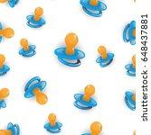 vector blue nipple seamless...   Shutterstock .eps vector #648437881