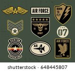 set of military and army badge... | Shutterstock .eps vector #648445807