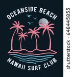 hawaii vector illustration for... | Shutterstock .eps vector #648445855