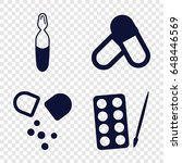antibiotic icons set. set of 4...   Shutterstock .eps vector #648446569