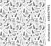 hand drawn seamless pattern of... | Shutterstock .eps vector #648447991