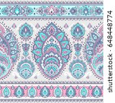 indian floral paisley medallion ...   Shutterstock .eps vector #648448774