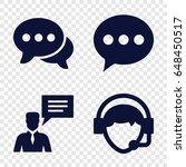 communicate icons set. set of 4 ... | Shutterstock .eps vector #648450517