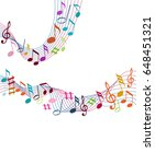 color music notes on a solide... | Shutterstock .eps vector #648451321
