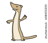 cartoon weasel | Shutterstock .eps vector #648453355