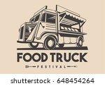 food truck logotype for... | Shutterstock . vector #648454264