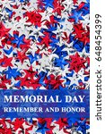 memorial day remember and honor ...   Shutterstock . vector #648454399