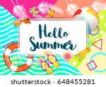 summer. | Shutterstock .eps vector #648455281