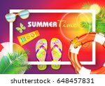 summer. | Shutterstock .eps vector #648457831
