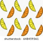 seamless pattern of slices... | Shutterstock .eps vector #648459361