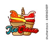 ice cream icon | Shutterstock .eps vector #648460489
