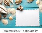 marine summer postcard.... | Shutterstock . vector #648460519