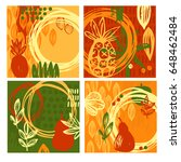 creative  vector cards with... | Shutterstock .eps vector #648462484