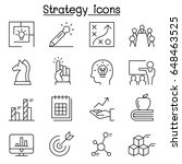 strategy   planning icon set in ... | Shutterstock .eps vector #648463525