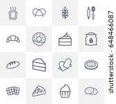 set of 16 oven outline icons... | Shutterstock .eps vector #648466087