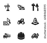 set of 9 editable construction...
