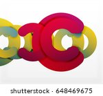 circle geometric abstract... | Shutterstock .eps vector #648469675