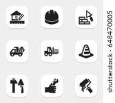 set of 9 editable construction... | Shutterstock .eps vector #648470005