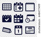 appointment icons set. set of 9 ... | Shutterstock .eps vector #648477499