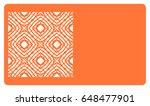 business card template. cut out ... | Shutterstock .eps vector #648477901