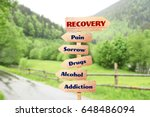 rehabilitation concept. wooden... | Shutterstock . vector #648486094