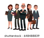 business people are led by a... | Shutterstock .eps vector #648488839