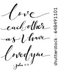 love each other as i have loved ... | Shutterstock .eps vector #648491101