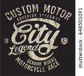 vintage biker graphics and... | Shutterstock .eps vector #648501091
