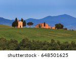 Tuscany Landscape At Twilight...