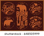 vintage vector of wilderness... | Shutterstock .eps vector #648505999