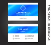 business card  vector | Shutterstock .eps vector #648507811