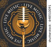 vector banner with an acoustic... | Shutterstock .eps vector #648510091