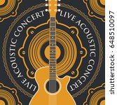 vector banner with an acoustic... | Shutterstock .eps vector #648510097