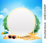 blank white circle banner with... | Shutterstock .eps vector #648510409