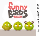 a set of funny birds from a... | Shutterstock .eps vector #648511399