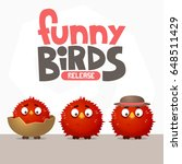a set of funny birds from a... | Shutterstock .eps vector #648511429