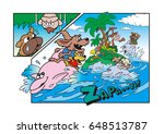 dog's character and amusement... | Shutterstock . vector #648513787