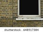 Bricks Wall With Window Open On ...