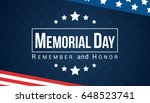 memorial day   remember and... | Shutterstock .eps vector #648523741