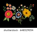 embroidery native pattern with... | Shutterstock .eps vector #648529054