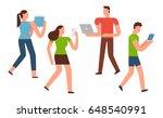 smartphone addiction...   Shutterstock .eps vector #648540991