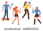 smartphone addiction... | Shutterstock .eps vector #648541051